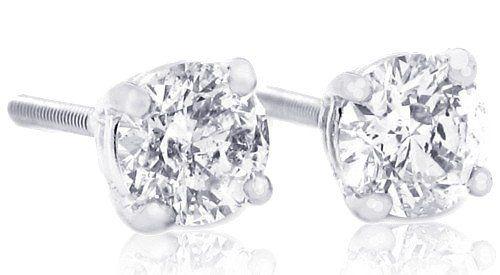 IGI Certified 1 Carat TW Round Diamond Stud Earrings 14Kt White Or Yellow Gold(Dia. Wt. range 0.95-1.05 Cts) $1,399.00 - SAVE 55%