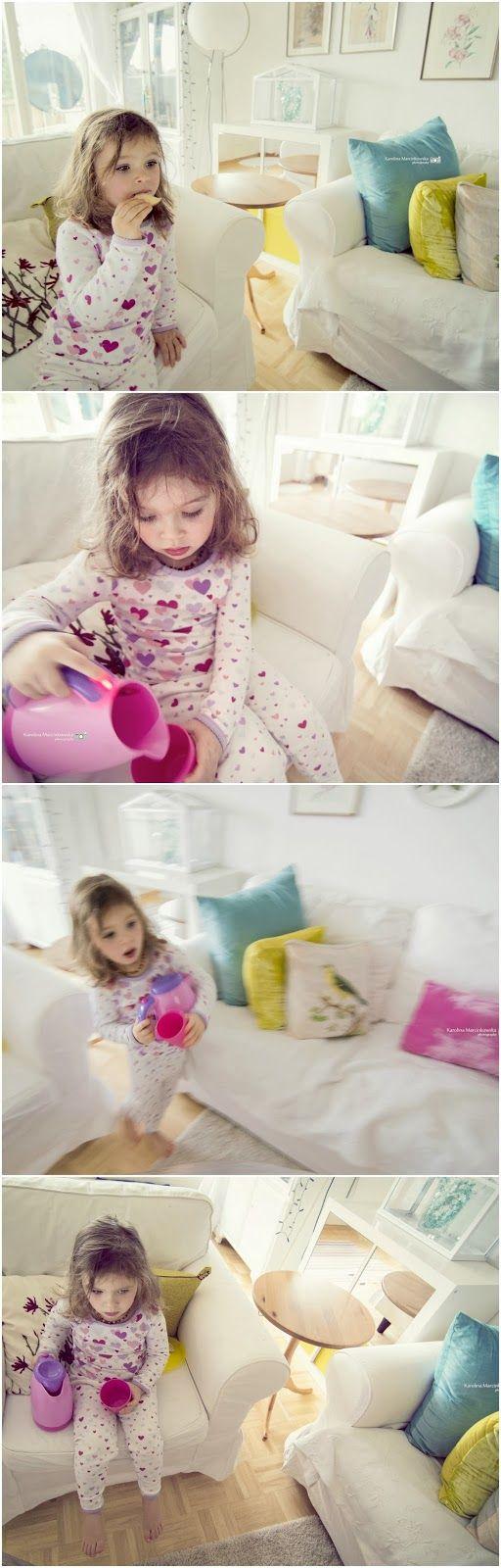 Lazy pyjamas morning - child portrait - sweet!