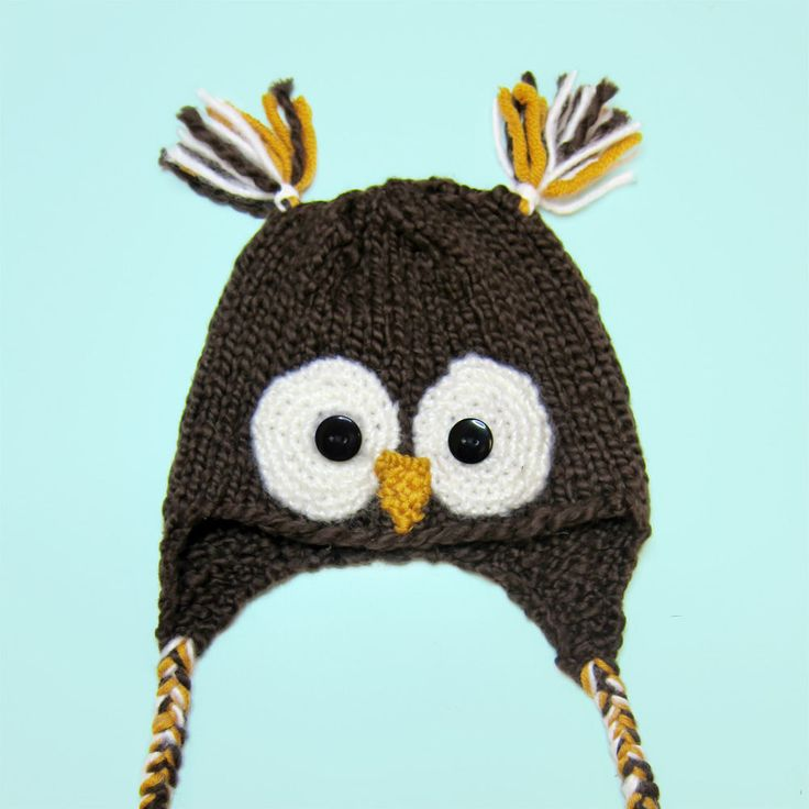 Baby Owl Beanie Knitting Pattern : 62 best images about Knitting on Pinterest
