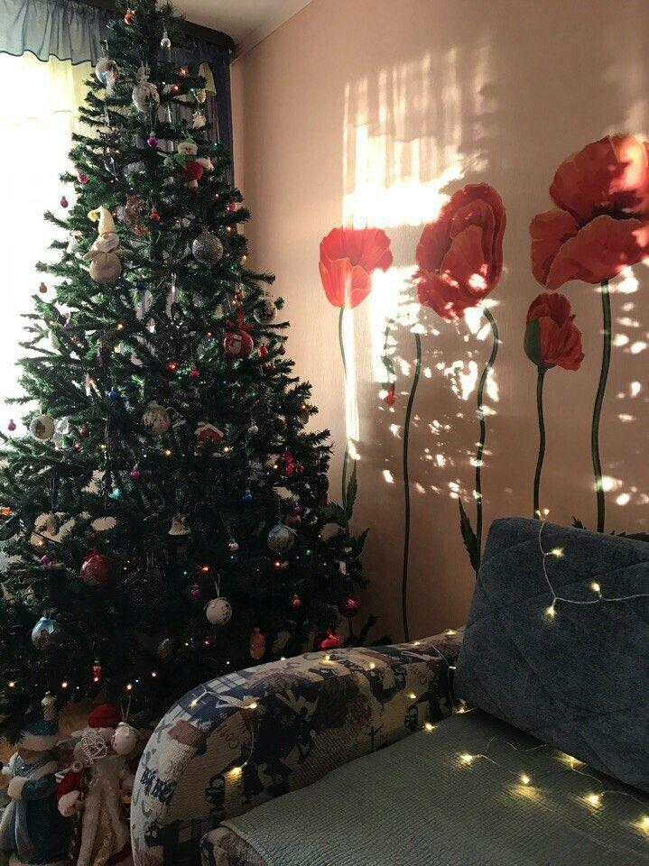 Christmas tree/new year/christmas/garland/house