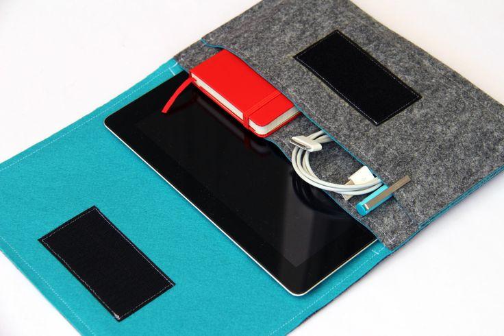 iPad mini Sleeve / iPad mini Case / iPad mini Cover / iPad mini Organizer - Gray & Turquoise - Weird.Old.Snail by WeirdOldSnail on Etsy https://www.etsy.com/listing/150511337/ipad-mini-sleeve-ipad-mini-case-ipad