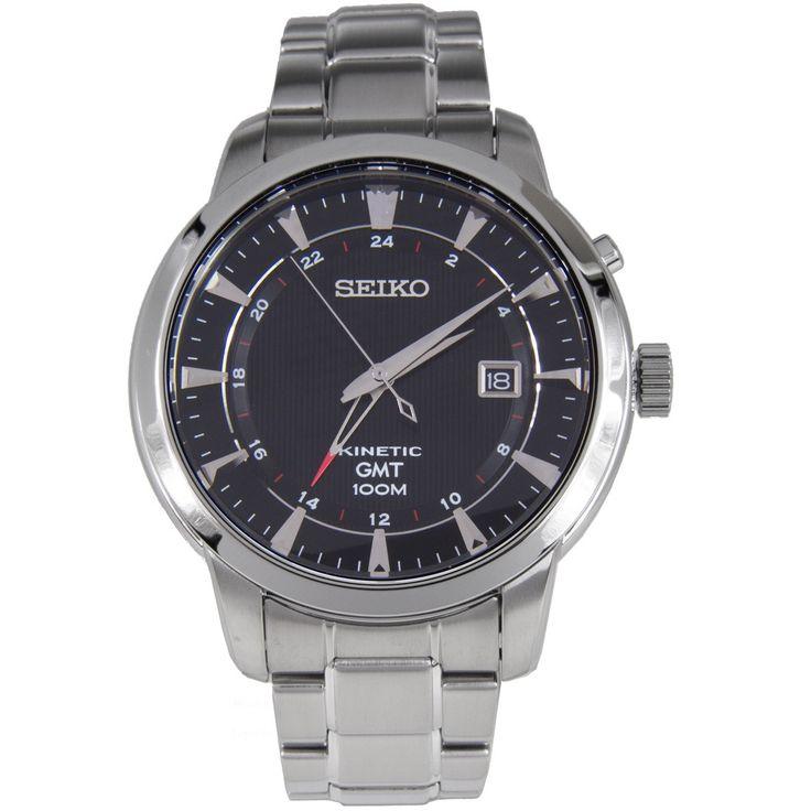 Seiko Kinetic GMT Watch SUN033P1 SUN033P SUN033