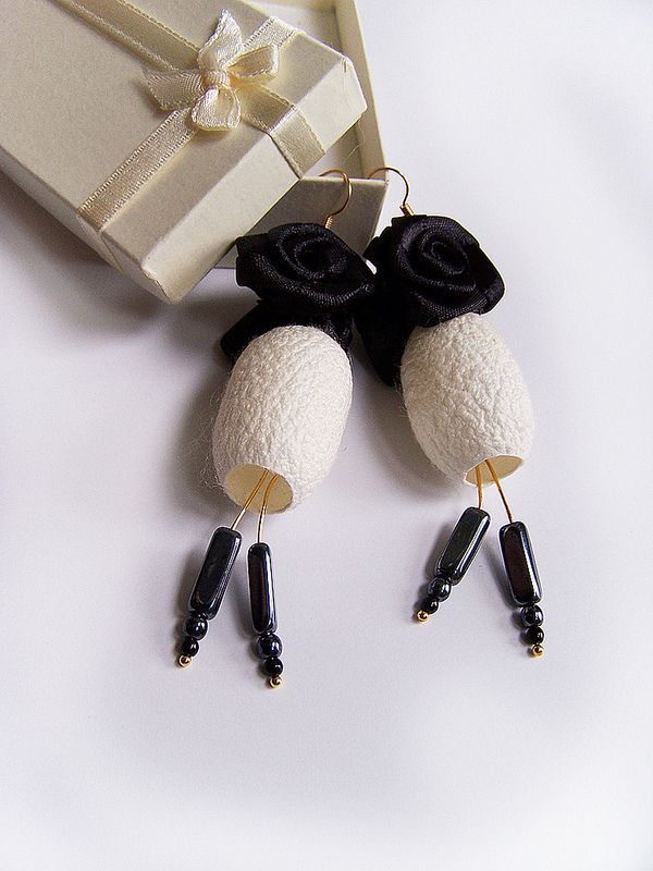 silk cocoon earrings | Flickr - Photo Sharing!