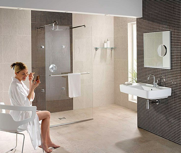 walk thru showers with bench | Image of Twyford Hydr8 Walk Through Shower Panel 900mm - H85910CP