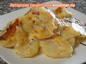 Картофель с беконом и сыром на обед ! ! !