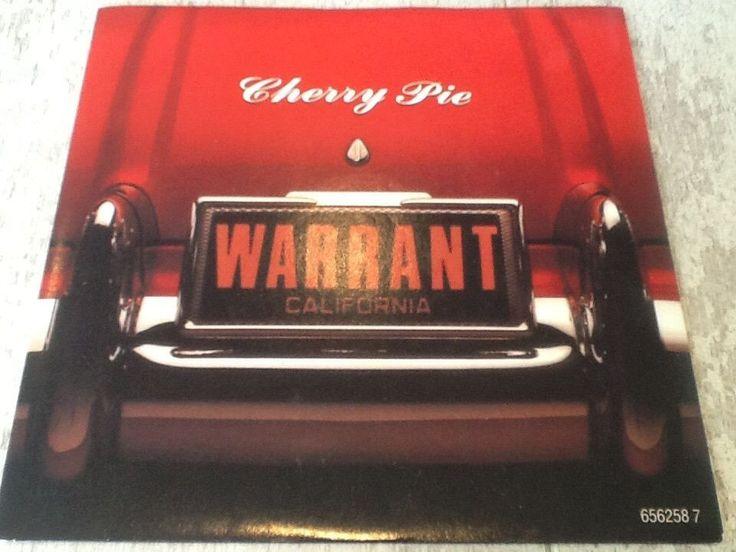 """Warrant - Cherry Pie 7"""" vinyl record."""