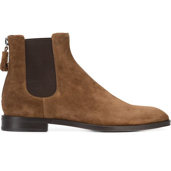 Givenchy chelsea boots (2.490 BRL) ❤ liked on Polyvore featuring men's fashion, men's shoes, men's boots, brown, mens brown leather shoes, mens brown leather boots, mens leather shoes, mens brown boots and mens leather boots