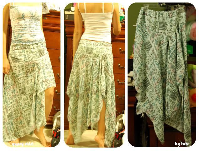 Gypsy Skirt: Tutorial. The pics of the finished product are clearer than the tutorial, but with both of them together I can figure out how to make this one :)