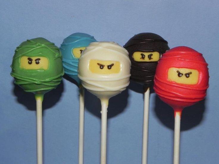 Lego Ninjago cake pops