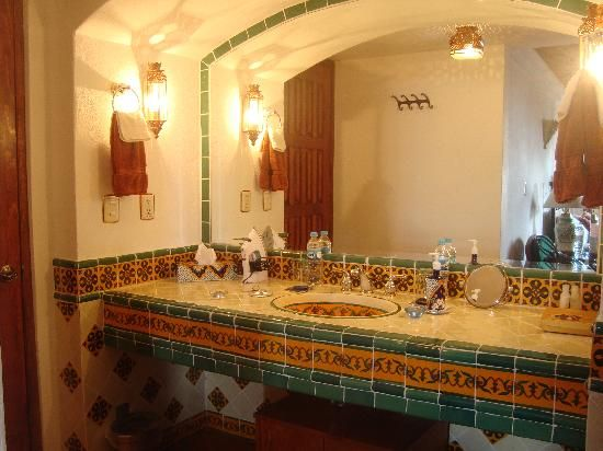 More Tiles Very Mexican 550×412 Pixels · Hacienda StyleMexican StylePowder  RoomMexicansBathrooms