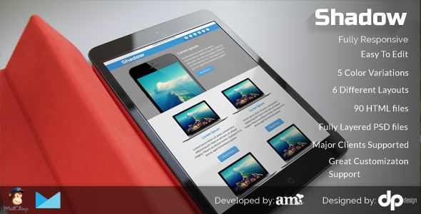 Shadow - Flat Corporate Email Template
