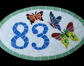 Número Residencial Oval 15x25cm