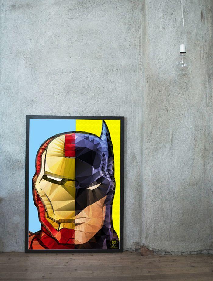 Print Baman Ironman http://kindofheros.tumblr.com/