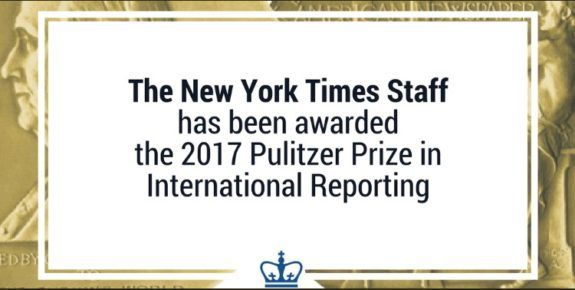 FAKE NEWS: The New York Times Wins Pulitzer Prize For 'Russian Hacking' Hoax