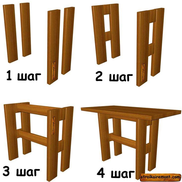 Как сделать стол из досок своими руками фото