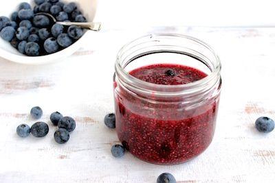 Simple Chia Jam - The Fit Foodie. #glutenfree #dairyfree #vegan #sugarfree #breakfast