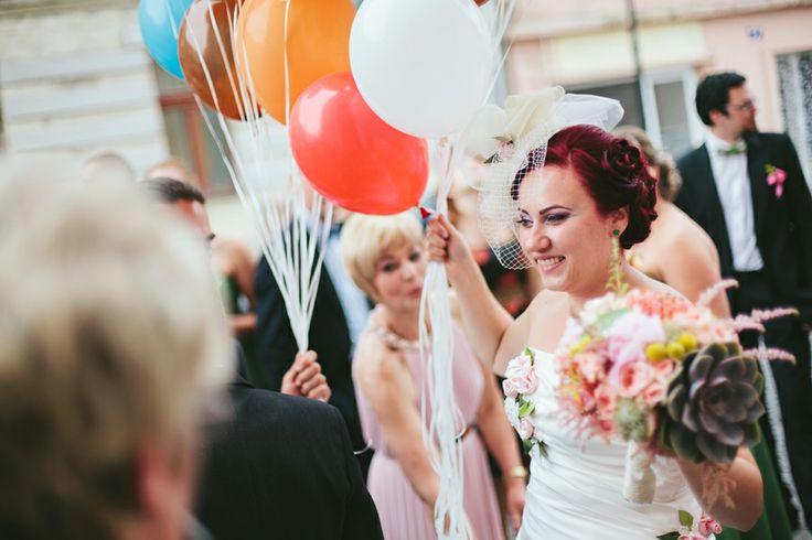 wedding baloons, baloane de nunta