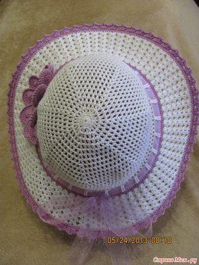 Шляпка летняя с цветком