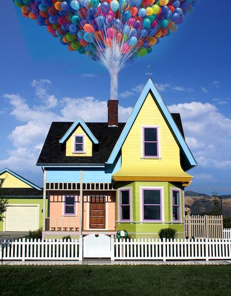 """Bangerter homes, in conjunction with the the Salt Lake City Home Builders Association, recreated a full scale version of Carl and Ellie's house from Pixar's animated feature """"Up."""" The home comes with many of the fun details you find in the movie along with some more modern updates. Disney/Pixar even gave the developer their blessing to build and sell the home."""