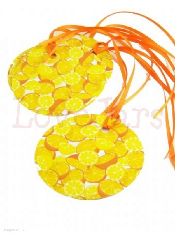 We love Round Tags Orange & Lemon with Ribbon [5] - find them in our online shop under Rosie's Pantry: Jarcessorise, Tags