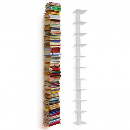 Haseform Bücherturm für 1,80m Bücher weiß