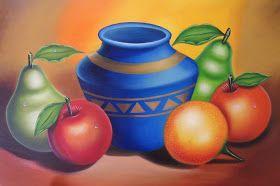 Bodegón Moderno Pintura de Bodegón Moderno al Óleo Sobre Lienzo Pinturas Bodegones Modernos Cuadro de Bodegón con Frutas Bodegón con Fruta...