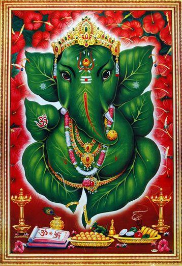 Affiche indienne Ganesh, Paris, 2010 /  ©Musée du Vivant - AgroParisTech