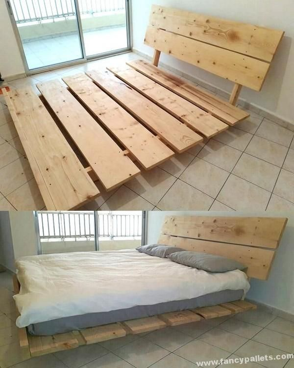 30 Stunning Pallets Wood Reusing Projects Diy Pallet Bed Diy