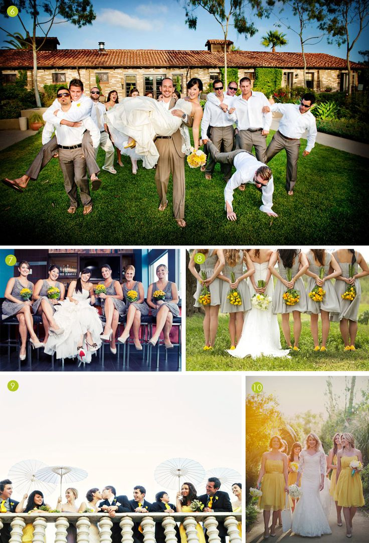 creative wedding party pictures