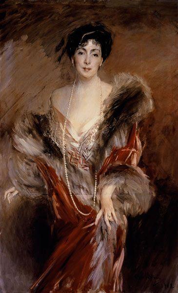 Giovanni Boldini - Portrait of Mrs Josefina A. De Errazuriz.: