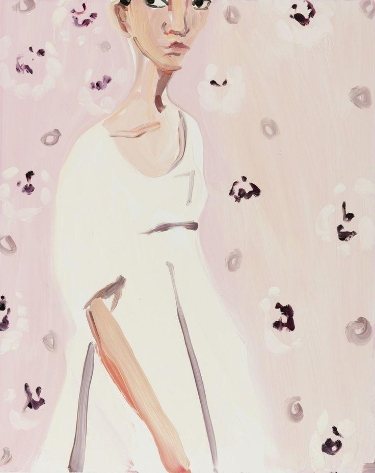 Chantal Joffe, 'Girl with Pink Wallpaper', 2016