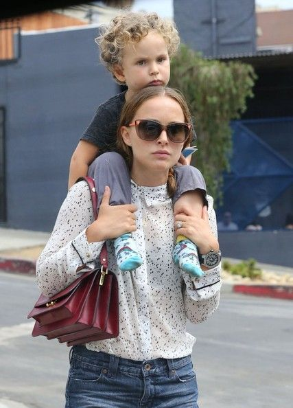Image: Natalie Portman and her son Aleph