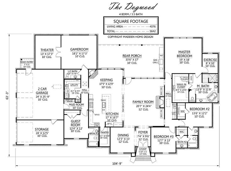 Madden home design dogwood home house plans for Madden house plans