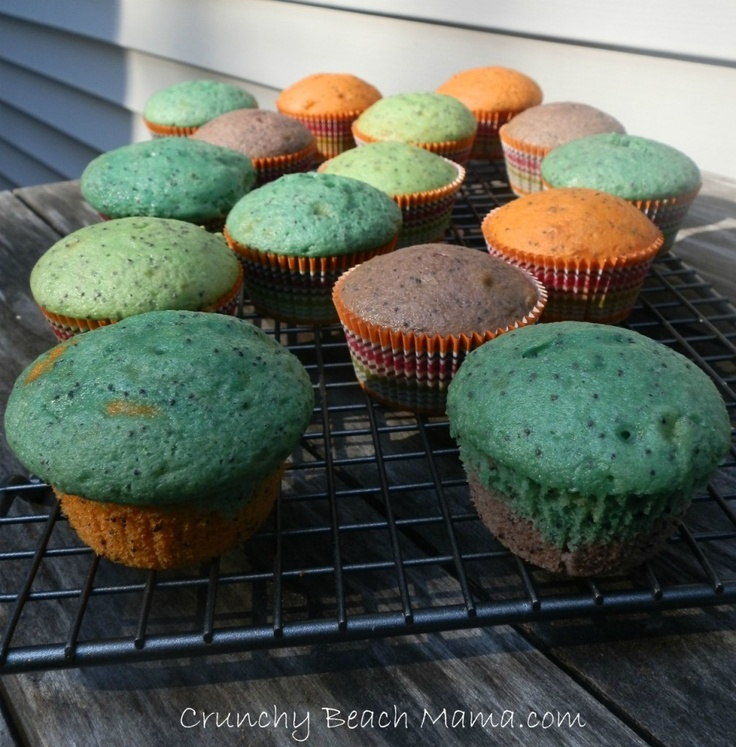 Lemon Poppyseed Muffins ~ bright and colorful for spring or Easter