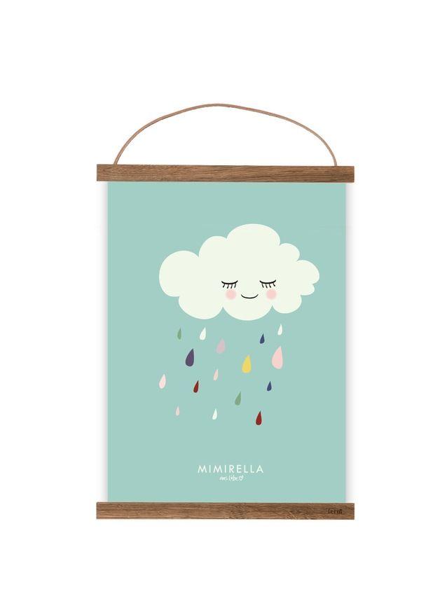 """Bilder - Kunstdruck / Bild """"Wolke"""" türkis - ein Designerstück von Mimirella-aus-Liebe bei DaWanda"""