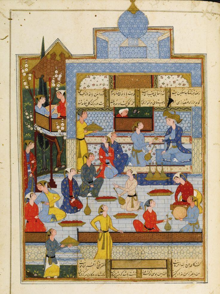 An Illustrated and Illuminated manuscript of Nizami's Haft Paykar ('Seven Princesses') and Layla wa Majnun, Persia, Safavid, probably Shiraz, circa 1590
