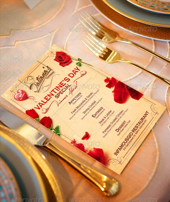 51 best RESTAURANT MENU images on Pinterest Menu templates - valentines day menu template