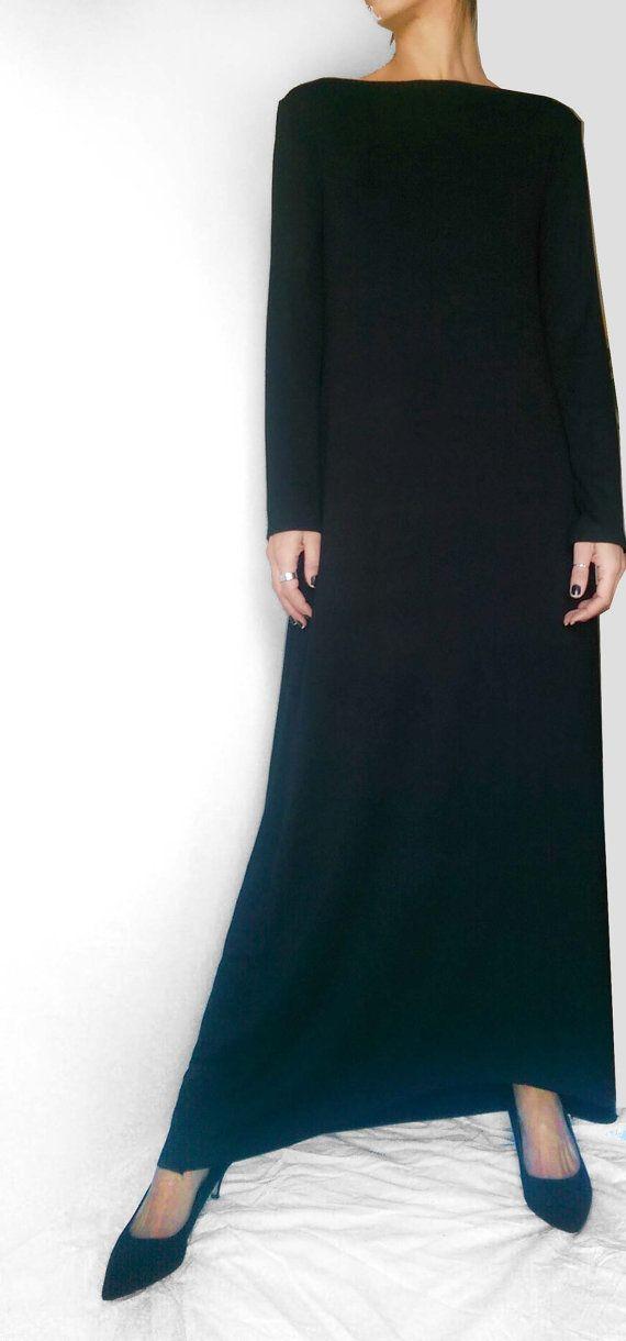Maxikleid schwarz jersey