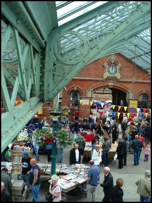 The market at Tynemouth station. A great place to while away a Sunday morning.