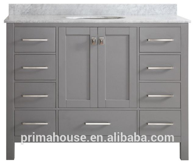 Raised Panel Solid Wood 12 Inch Deep Bathroom Vanity Small Bathroom Vanities With Tops Single Bathroom Vanity Modern Bathroom Vanity Marble Vanity Tops