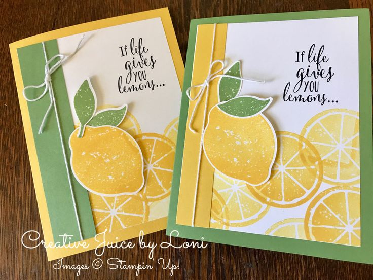 Lemon Zest, Stampin' Up! Creative Juice by Loni www.creativejuicebyloni.com