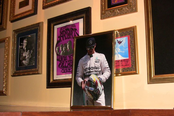 Hamilton picture in the Hard Rock Cafe, San Francisco