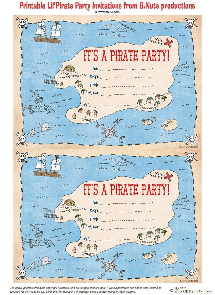 240 besten motto piraten | kindergeburtstag bilder auf pinterest, Einladungen