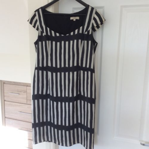Clothing-By-Bravissimo-Size-14C-Black-And-Dark-Cream-Dress-curvy