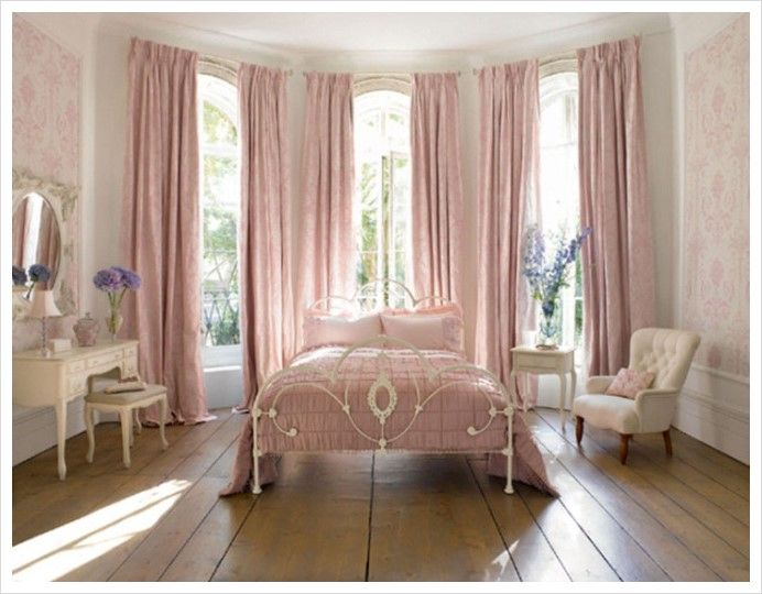 20 Pops of Pastels We Love | Bedrooms, Light fittings and Pink curtains