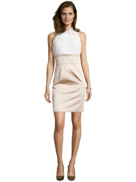 Jake*s Two-Tone-Kleid mit schimmerndem Rockteil in Gelb - 1