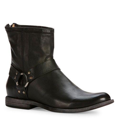 Frye schoenen heren Phillip Harness zwart - Boots for men in Black. International shipping -> free shipping in Europe. https://www.boeties.nl/frye-schoenen-heren-phillip-harness-zwart