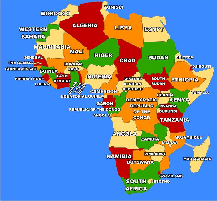11 best Countries Africa images on Pinterest Cards, Countries and - best of world map with africa in center