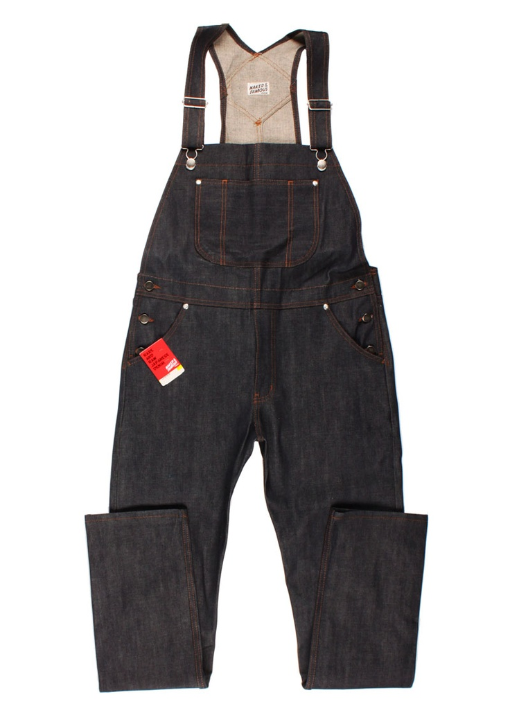 NAKED AND FAMOUS MAKES OVERALLS...