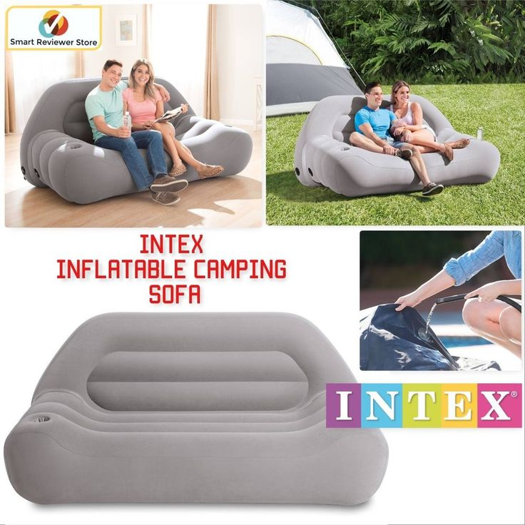 Intex Inflatable Camping Sofa Couch Chair Lounger Living Room Outdoor  Furniture